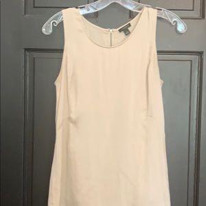 Ann Taylor tan silk blouse  small